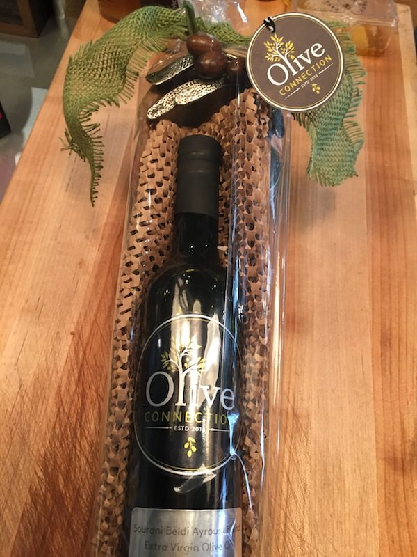 Olive OIl of your choice and olive cracker dish.