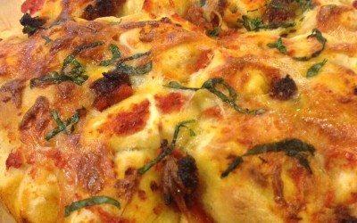 Pull Apart Prosciutto Pizza Bread