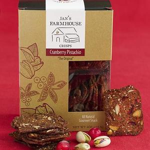 Jan's Cranberrry Pistacio Crackers from Vermont
