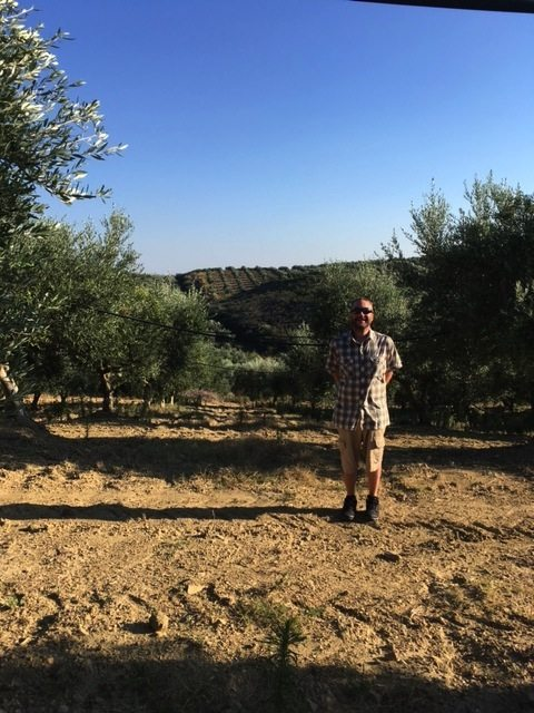 CJ in Greece at the Olive Table Groves