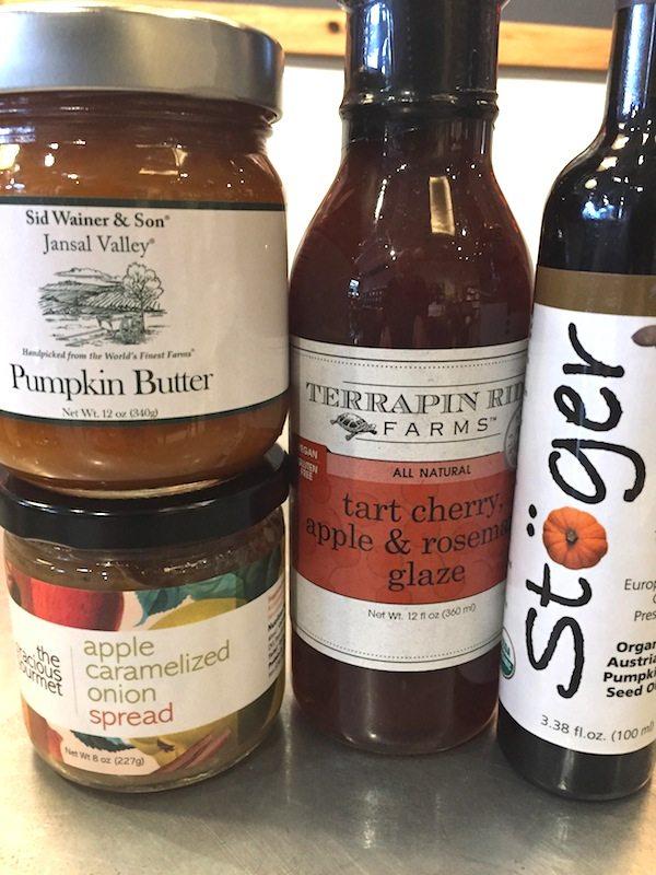 Pumpkin Butter, Apple Caramelized Onions, Cherry Glaze, and Pumpkin Seed Oil