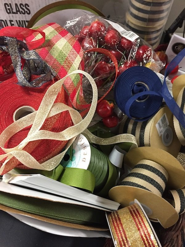 Assortment of ribbon choices