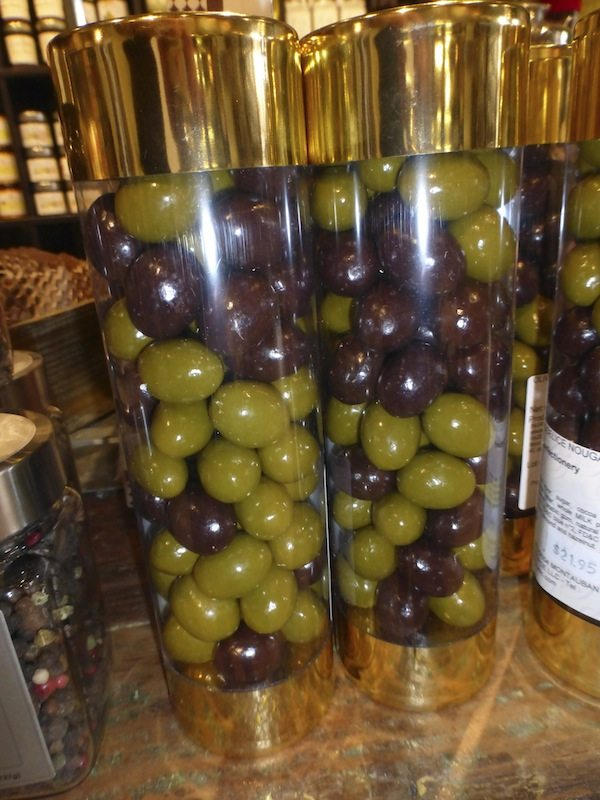 Pralines from France that look like olives