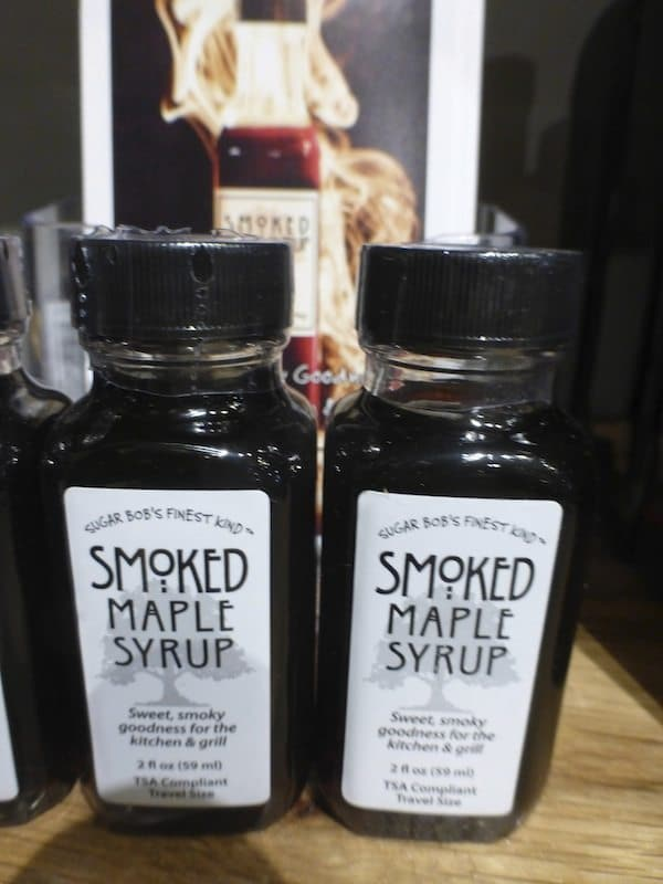 Smoked Maple Syrup in a small size perfect to add to your bourbon old fashioned
