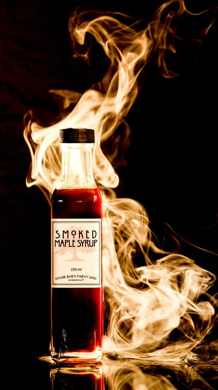smoked maple syrup bottle image